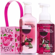 Bath and Body Works Black Cherry Merlot Lotion and Hand Soap Gift Set