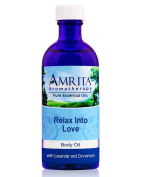 Relax Into Love Massage & Body Oil With Pure And Therapeutic Grade Essential Oils of Lavender & Cinnamon