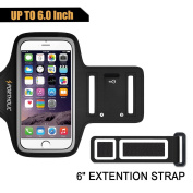 Sports Armband for iPhone 7 Plus 6s Plus 6 Plus, Portholic For LG G5, Note 3/4/5 with case (fits with large Otterbox Defender & Lifeproof case) with Key & Cards Holder, Cable Locker