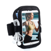 Turata iPhone 6 6S Plus Armband Sports Running Armbands Waterproof Arm Band with Zipper Pouch for iPhone for Samsung Galaxy S6 Note 7 5 Nexus 6P