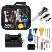 DDLBiz Professional 144 PCS Watch Repair Tool Kit Watchmaker Back Case Remover Opener Spring Pin Bar Set