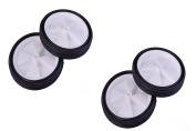"""SET OF FOUR (4) 5"""" (125mm) WHEELS 25mm CENTRES SOLID WHEEL IDEAL FOR CARTS,TROLLEYS PROJECTS ETC"""