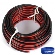 Universal Stranded Cable Red and Black PVC Sleeve Lead 0.75mm 10m