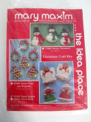 Mary Maxim Needlework and Crafts kit - 6 wooden spool Angels ornaments 37634