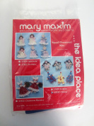 Mary Maxim Needlework and Crafts kit - 6 wooden spool clown ornaments 37836