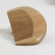 Wooden combs Mother 's Day Gift Green Sandalwood Comb Hair Wide Teeth Comb Teeth Tooth Lettering Gift Massage