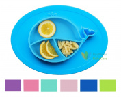 RayMoon Kids Plates Silicone Toddler Suction Bowls Led Weaning Tableware Set Whale
