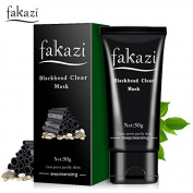 Fakazi Bamboo Charcoal Deep Cleansing Black Mask,Blackhead Mask Peel-off Mask Blackheads Remover Clean Skin