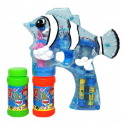 LilPals CLEAR BLUE BUBBLE GUN SHOOTER – FELY THE FISH BLASTER WITH LIGHT AND SOUND - BUBBLE SOLUTION INCLUDED, FOR KIDS . OLD AND ABOVE