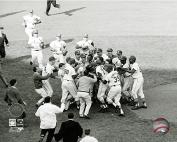 Bob Gibson St. Louis Cardinals 1964 World Series Celebration Photo (Size