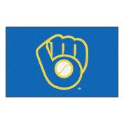"FANMATS 16842 Team Colour 150cm x 240cm MLB - Milwaukee Brewers ""Glove"" Ulti-Mat"