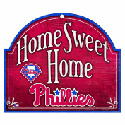"MLB Philadelphia Phillies 10-by-11 Wood ""Home Sweet Home"" Sign"