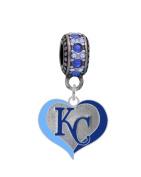 Kansas City Royals Swirl Heart Charm