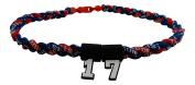 Custom Number - 50cm Navy Blue & Red Tornado Necklace