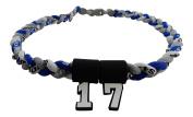 Custom Number - 50cm Royal Blue Grey White Tornado Necklace