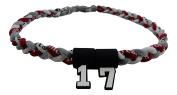 Custom Number - 50cm Maroon Grey White Tornado Necklace