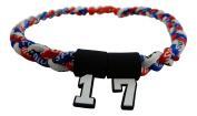 Custom Number - 50cm Red White & Blue Tornado Necklace