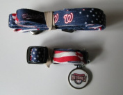 Hunter Washington Nationals Pet Collar, Lead and ID Tag Combo Set