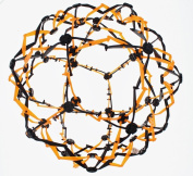 Hoberman Mini Sphere Neon Orange and Black Expandable Ball