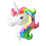 FindFun 80cm Unicorn Foil Balloon Animal Horse Decor for Birthday Baby Shower Party Wdding Child Toys
