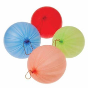 HUELE Punch Balloons with Rubber Band Handles Toy (1 Dozen), Assorted Colour