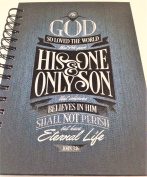 "Inspirational For God So Loved the World "" NOTEBOOK JOURNAL"" Faux Denim Cover"