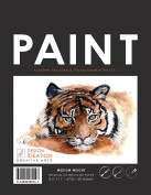 Premium Paper Paint Book for Pencil, Ink, Marker, Charcoal and Watercolour Paints. Great for Art, Design and Education.