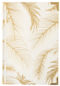 Eccolo World Traveller Gold Palm & Gold Corners 15cm x 20cm Hard Cover Journal, Premium Lined Pages