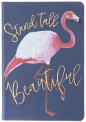 "Eccolo World Traveller Navy ""Stand Tall Beautiful"" 15cm x 20cm Flexi Cover Journal, Premium Lined Pages"