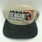 Rare Tony Gwynn Signed 1998 National League Champions San Diego Padres Hat - PSA/DNA Certified - Autographed Hats