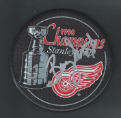 Barry (Colorado Rockies) Smith Signed Hockey Puck - 1998 Stanley Cup Champions Detroit Red Wings - Autographed NHL Pucks