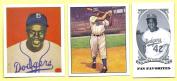 (3) Jackie Robinson 1950 & 1949 Bowman Rookie Card Reprint Lot W/H BONUS MINI! Brooklyn Dodgers Legend!
