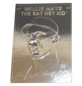 Willie Mays - Silver Foil Baseball Card, 1996, Clear Plastic Holder, With Serial #.