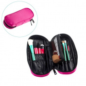 OR Pure Zipper Makeup Brush Bag Cosmetic Bag Organiser Portable Holder Multifunctional Makeup Case Handbag with Inner Mesh Bag for Travel & Home
