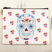 Karma by Stephen Joseph Beauty Makeup Cosmetic Bag Case Fiesta Bonita - Sugar Skull