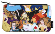 Loungefly Disney Belle Beauty and The Beast Characters Cosmetic Pencil Bag Pouch