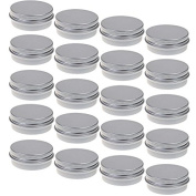 M-Aimee 20pcs 1 Ounce 30ml Aluminium Tin Jars Screw Cap Round Storing Can Container,Cosmetic Sample Metal Tins Empty Container
