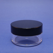 2 Pcs Sifter Loose Powder Jar Container Sample Plastic Packaging Black Lid