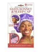 Donna's Premium Reversible Satin Bonnet & Sleep Cap Pink