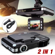Fheaven 2 in 1 MFP 5MP Car DVR Recorder + Radar Laser Speed Detector Trafic Alert English