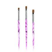 KADSA 3 Different Size/SET Professional UV Gel Brush Nail Art Painting Draw Brush/uv gel brush for nail brush