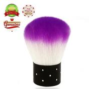 Brendacosmetic Purple Soft Round Manicure Brush Nail Art Brush, Dust Brush Cleaning Brush Foundatiuon Brush Nail Beauty tool for Women