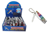 Diamond Visions 11-0994 Rhinestone Nail Clipper in Assorted Colours 4 Piece set Total of 4 clippers