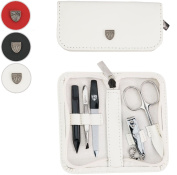 THREE SWORDS | Exclusive 5-Piece MANICURE - PEDICURE - GROOMING – NAIL CARE set / kit / case | Made in Solingen / Germany (002082) | VARIOUS colours