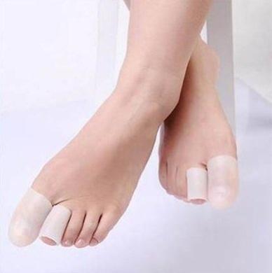 JERN Silicone Gel Toe Tube Foot Corns, Blisters, Bunion Toe Finger Protector(2 Pcs) (M)