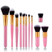 ASIMOON 11pcs Professional Makeup Brushes, Soft Kabuki Brush Foundation Blending Blush Concealer Eye Face Liquid Powder Cream, Cosmetic Brushes Kit