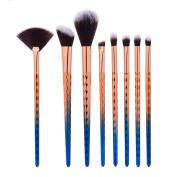 8-Pieces Makeup Brush Set,Molie Professional Foundation Concealer Blending Blush Liquid Powder Cream Cosmetics Brushes Makeup Tools for Face and Eyes
