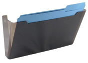 US-Works Wall File Pocket, Polycarb, Smoke, Letter Size