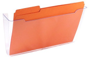 US-Works Wall File Pocket, Polycarb, Clear, Letter Size