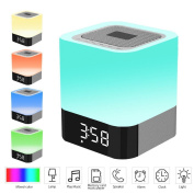 KINGCOO All-in-one Wireless Bluetooth Speaker with Multicolor Touch Sensor Night Light Lamp,Suppoty Alarm Clock,Hands-free Calls,MP3 Player TF Card Function